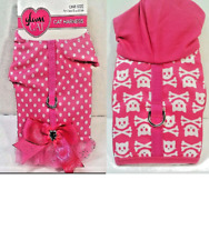 Pink Polka Dotted Tutu or  Crossbones Glam Cat Harness one size New