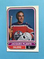JACQUES PLANTE WHA 1975-76 O-Pee-Chee Hockey Card #34 EDMONTON OILERS OffCentre
