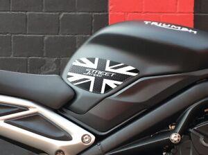 2 Protections Réservoir 3D Pour Moto Compatible Triumph Street Triple 2013-2019