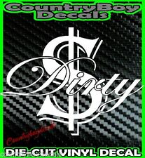 DIRTY MONEY VINYL DECAL STICKER Car Truck Turbo Boosted 4X4 Diesel Funny Boost