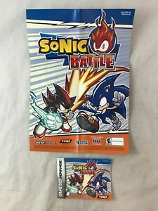 Sonic Battle Game Boy Advance Mini Poster & Instruction Booklet Manual Only