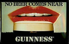 Guinness No Beer Comes Near (lips) embossed steel sign (hi 3020)