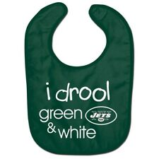 New York Jets Wincraft NFL All Pro I Drool Green & White Baby Bib FREE
