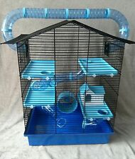 Large Cage for Hamster, Mouse or Gerbil with accessories - blue ch3