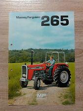 Original Traktor Massey Ferguson Prospekt  Traktor 265