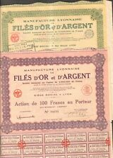 2 titres: FILES d'OR & d'ARGENT (LYON 69) (B)