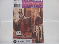 Simplicity 5359, Harem, Gypsy, Belly Dancer Costumes Pattern, Sizes 14-20