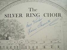 The Silver Anello Choir of Bath-hand signed by conductor Kelvin Thomas Srcv 0001