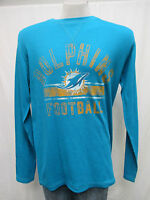 Miami Dolphins Men's Large Long Sleeve Turquoise NFL A14