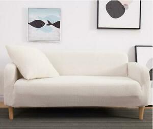 White Color Elastic Sofa Cover Stretch All-inclusive Sofa Covers 1/2/3/4 Seater