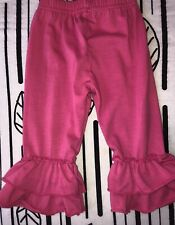 Baby Girls Pink Ruffle Pants Leggings Size 6-9 Months Boutique Icing Style