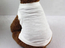 XS White Pet Sweater Cat Shirt Coat Dog Clothes Hoodie Animal Vest