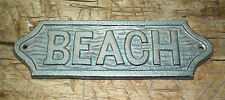 Cast Iron Antique Style BEACH Plaque Sign Nautical Pool Home Decor BOAT HOUSE