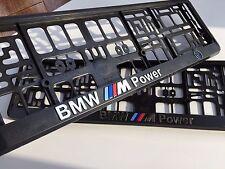 BMW M3 Series Euro Standart License Plates Frames with 3D ///M Logo