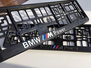 BMW M3 Series Euro Standart License Plates Frames with 3D ///M Logo