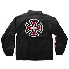 Independent Trucks Bar And Cross Coach Windbreaker Jacket Black Medium