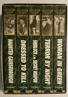 Sherlock Holmes VHS Movies Box Set of 5 Basil Rathbone, Ronald Howard
