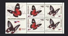 """2019 Philippines-Singapore Butterfly S/S overprinted """" SINGPEX 2019 """" mint NH"""