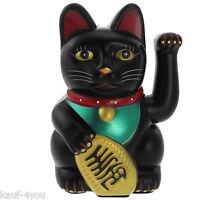 Winkekatze 15 cm Maneki Neko Glückskatze Geldkatze winkende Katze