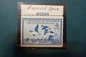 Federal Duck Stamp, RW15, 1948, FVF, NH, OG, artist signed, Reece