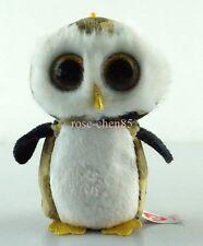 """3.2"""" Owliver The Owl TY Beanie Boos Key Clip Plush Stuffed Toys Glitter Eyes N"""