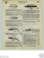 1932 PAPER AD South Bend Fishing Lure Big Pike Oreno Musk Babe Bass Surf