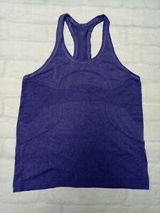 Lululemon Womens Workout Running 'Swiftly Tech' Tank Top in Purple Size 12
