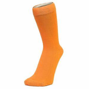 Plain Orange Ankle Socks (Size: 4-7)