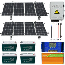 800W 1600W Watt 24 Volt Complete Solar Panel Kit For Home Garden Farm Ground