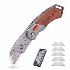 Utility Knife, Tacklife UKW03 Box Cutter - Folding Pocket Utility Knife with 5 E