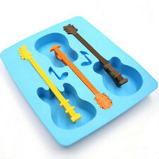 Kitchen Guitar Shape Chocolate Cake Maker Mould Silicone Ice Cube Tray Usefull*1