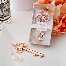Rose Gold Vintage Skeleton Key Bottle Opener Bridal Shower Wedding Favors