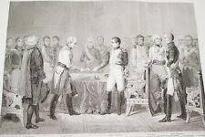 NAPOLEON CONFERENCE EMPEREURS ALEXANDRE ERFURTH GRAVURE 1838 VERSAILLES R1142