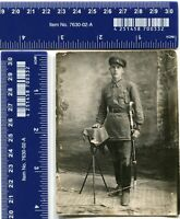 WW USSR Photo Military Red Army RKKA officer Vintage uniform Saber Broadsword
