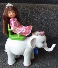 Barbie doll Island princess Tika Grey Baby Elephant with princess doll