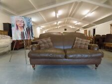 Laura Ashley Richmond Brown Antiqued Leather Small  2 Seater Sofa  *We Deliver*