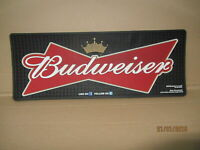 BUDWEISER THICK RUBBER HEAVY DUTY BAR RUNNER - NEW / 45cm x 18cm  pub home bar