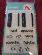 NEW Avery Elle HELLO....Clear Stamps Name Tags
