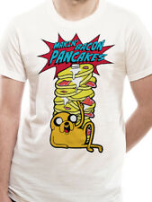 Official Adventure Time Makin' Bacon Pancakes T-shirt  Jake NEW White M L XX