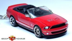 RARE! KEY CHAIN RED FORD MUSTANG GT500 SHELBY CONVERTIBLE NEW CUSTOM LTD EDITION