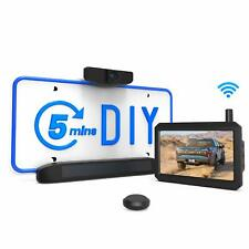 Solar Wireless Rear View Backup Camera Kit 5'' Monitor + HD Reversing Camera