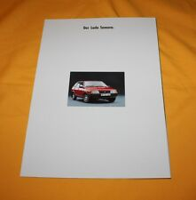 Lada Samara 1988 Prospekt Brochure Catalog Prospetto Depliant