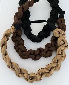 Ladies Wig Twist Synthetic Hair Elastic Headband