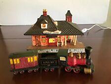 Dept 56 Dickens Village Train and Lighted Station Chadbury Station 4 Piece Set