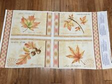 Fall Festival Leaves  Cotton Kitchen Dining Placemat Fabric Panel sewing craft