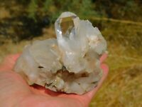 Clear Quartz Crystal Cluster With Optical Clarity & Unique Features Reiki Energy