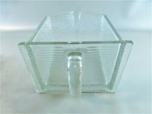 Sehr große Glasschütte alt von PONCET ca. 17 x 13,5 x 10 Höhe cm