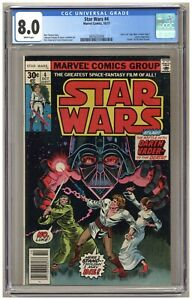 Star Wars #4 (CGC 8.0) Battle with Darth Vader; Death of Obi-Wan; Newsstand A682