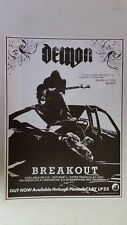 """DEMON """"Breakout"""" Full Page AD magazine clipping NWOBHM hard to find"""