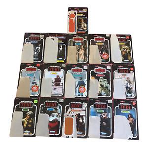 Vintage Kenner Star Wars Card Back 16 Cards Lot! Han In Carbonite, 8D8 Cardback